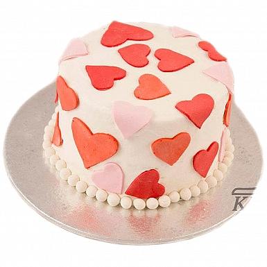 4Lbs Round Heart Cake - Kitchen Cuisine