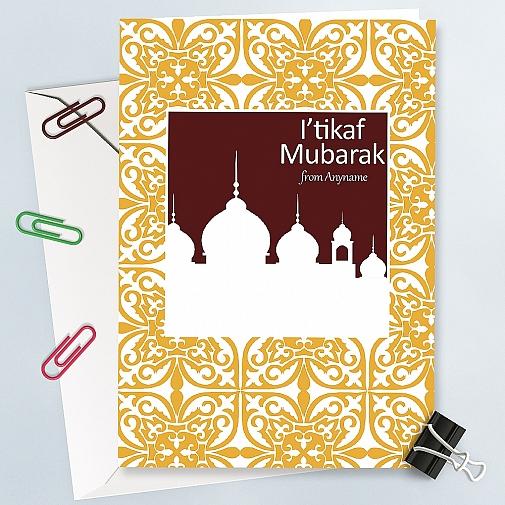 Itikaf Mubarak-Personalised Card