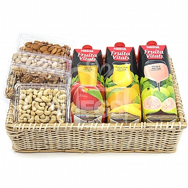 Juices and Dry Fruits Lovers Gift Hamper
