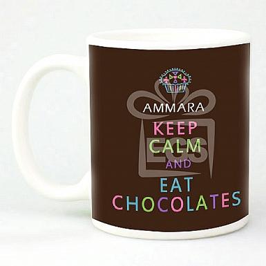 Rainbow Eat Chocolate Mug - Personalised Mugs