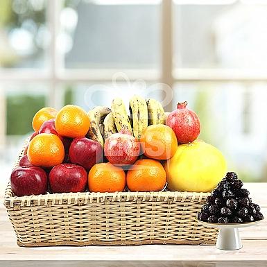 Large Fruit Basket with Imported Dates