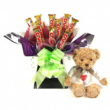 Love Crunch Bear Bouquet