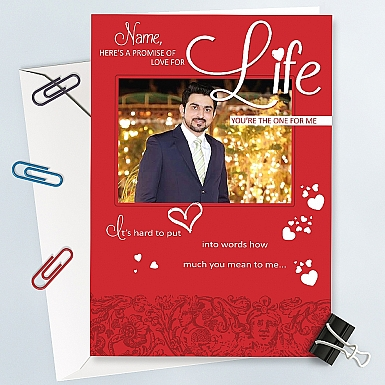 Love for Life-Personalised Photo Card