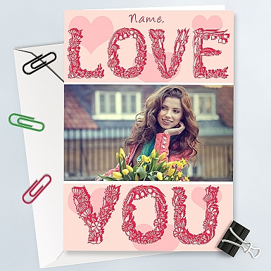 Love You-Personalised Photo Card