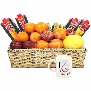 Loving Dad Fruit Basket