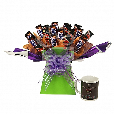 Mars and Snickers Bouquet With Mug