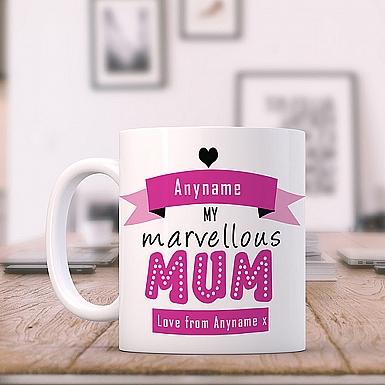 Marvellous Mum-PersonalisedMug