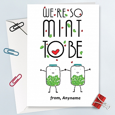 Mint to be-Personalised Card