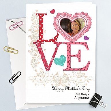 Mother's day Love-Personalised Photo Card