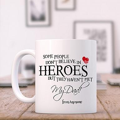 My Dad is a Hero-Personalised Mug
