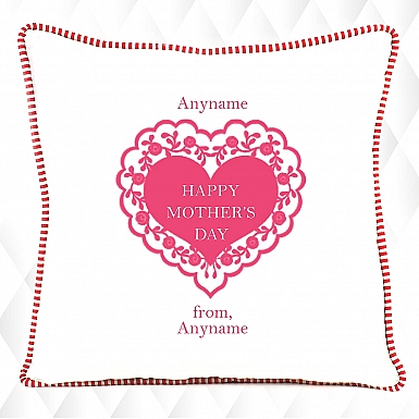 Pink Heart Mother's Day Cushion