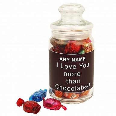 Love You More Than Chocolates-Quality Street Jar