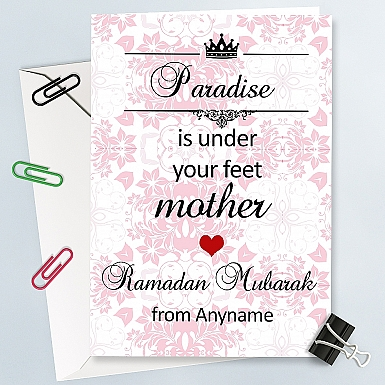 Ramadan Mubarak Card for Mother