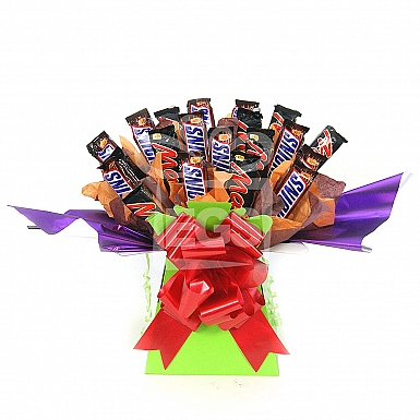 Snickers and Mars Chocolate Bouquet