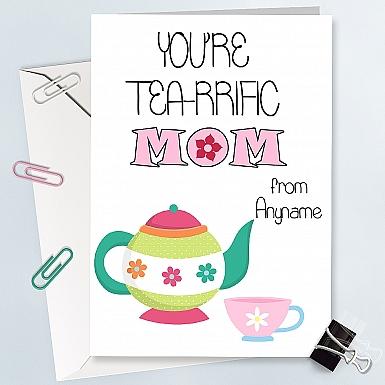 Tearrific Mom-Personalised Card