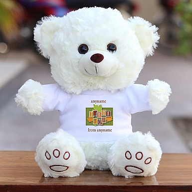 Thank You Leaves - Personalised Bear