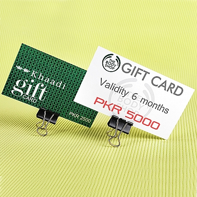 The Body Shop and Khaadi Gift Cards Combo for Her