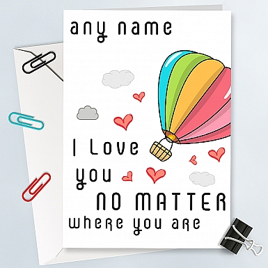 Unconditional Love-Personalised Card