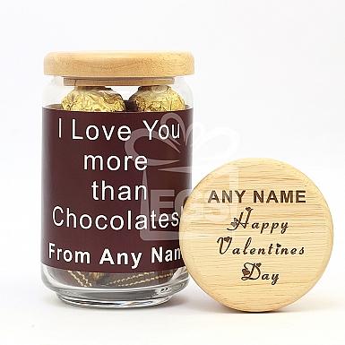 Valentine's Love-Engraved Lid Jar