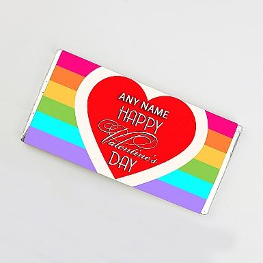 Happy Valentines-Personalised Chocolate Bar