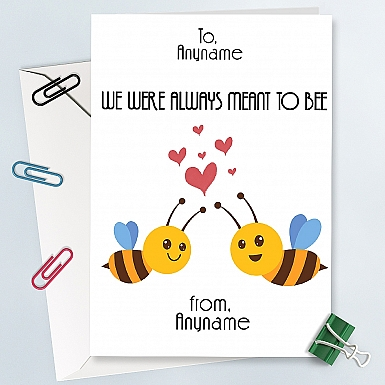 We were meant to Be-Personalised Card