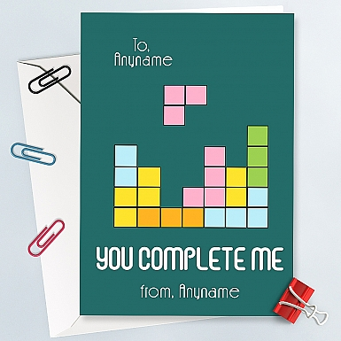 You complete Me-Personalised Card