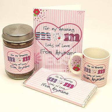 Amazing Mum Card + Coffee Jar + Mug + Chocolate Bar