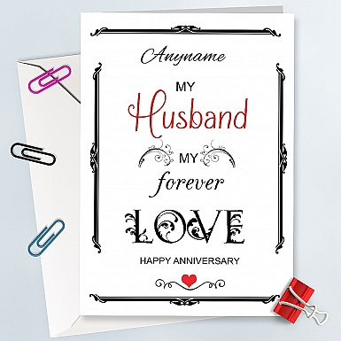 Anniversary Card for Hubby