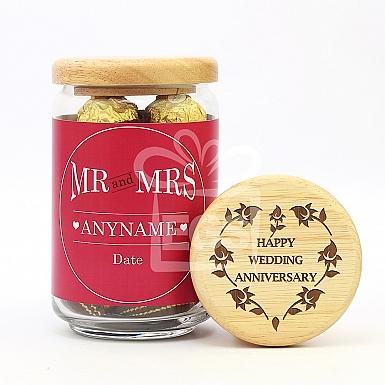 Wedding Anniversary-Engraved Lid Jar