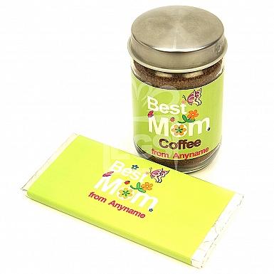 Best Mom Coffee Jar + Chocolate Bar