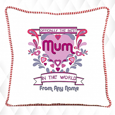Best Mum in the World-Personalised Cushion
