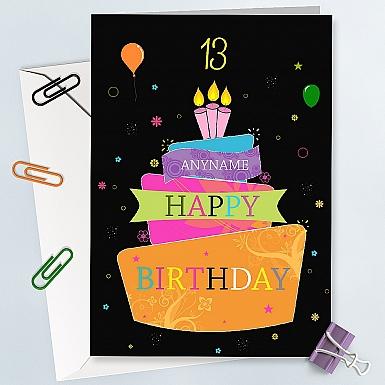 Birthday Celebrations-Personalised Card