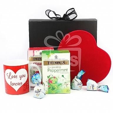 Chocolate & Tea Valentine Hamper
