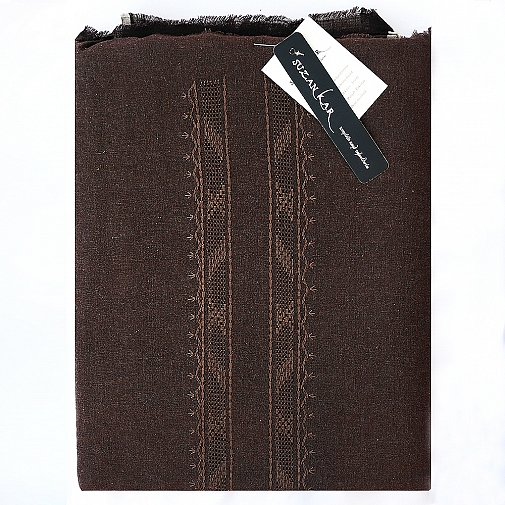 Chocolate Brown Unstitched Khaddar Suit for Mens