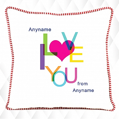 Colorful love you -Personalised cushion