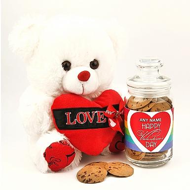 Cookies Jar with Single Heart Teddy
