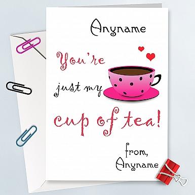 Cup of tea Anniversary Card