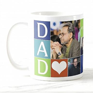 Dad Photo Collage Mug