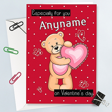 Especially for You-Personalised Valentines Card