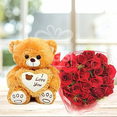 Expressive Teddy Love Bunch