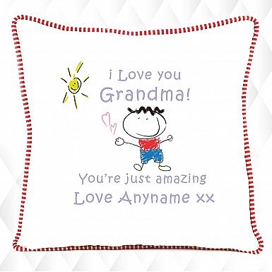 Grandma You Are Amazing - Personalised Cushion