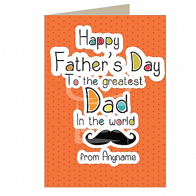 Greatest Dad - Personalised Card