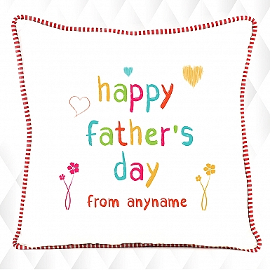 Happy Fathers day - Personalised Cushion
