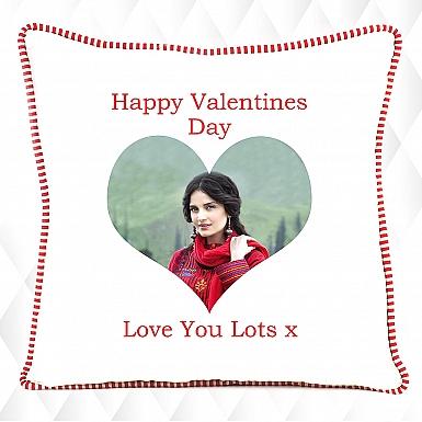 Happy Valentine's Photo Cushion