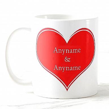 Heart Named - Personalised Mug