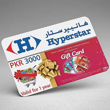Hyperstar Gift Card- Rs.3000