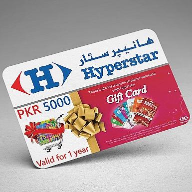 Hyperstar Gift Card- Rs.5000