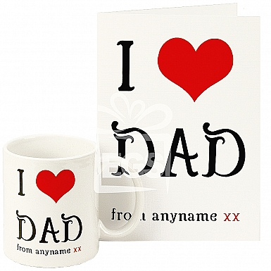 Personalised I Love Dad Gift