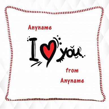 I love you Heart-Personalised cushion