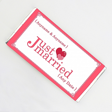 Just Married-Personalised Chocolate Bar